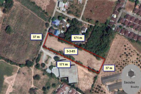 ขายที่ดิน สุรศักดิ์ ชลบุรี 3-3-85.0 ไร่ 14 ล้าน