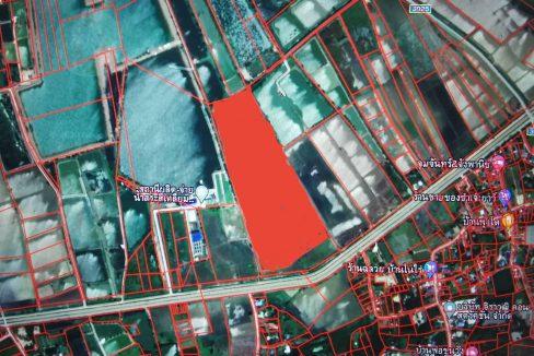 ขายที่ดินชลบุรี พนัสนิคม ตำบลสระสี่เหลี่ยม ติดกับ สถานีผลิต-จ่ายน้ำสระสี่เหลี่ยมการประปาส่วนภูมิภาคสาขาพนัสนิคม