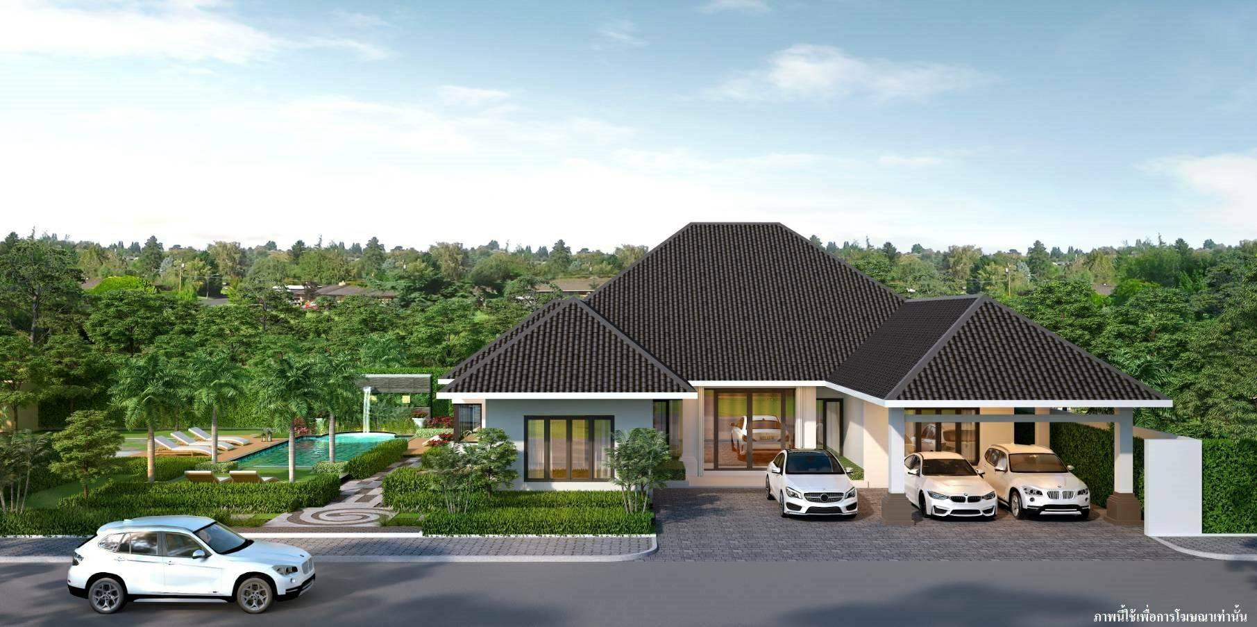 ขายบ้านเดี่ยว ชั้นเดียว โครงการ European Thai House พัทยา จ. ชลบุรี