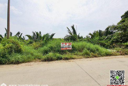 ขายที่ดิน ถนนเทศบาลสำโรงใต้21 พระประแดง สมุทรปราการ ใกล้วัดบางหัวเสือ ซ.สยามพัฒนา11