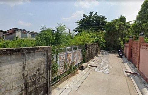 ขายถูก ที่ดิน 90 ตรว ซอยสะพานขวา ใกล้รถไฟฟ้าเตาปูน แปลงสี่เหลี่ยม เหมาะสร้างบ้าน