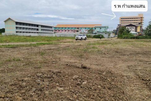 ขายที่ดินติดน้ำ 14 ไร่เศษ (แบ่งขาย) ถมแล้ว ตรงข้าม มหาวิทยาลัยเกษตรศาสตร์ กำแพงแสน นครปฐม
