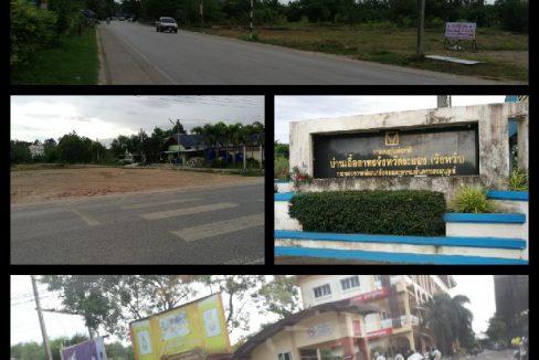 เจ้าของขายเองที่ดินติดถนนสุนทรภู่ 4 หน้าเคหะเอื้ออาทรวังหว้า ใกล้วิทยาลัย A-BATC ระยอง