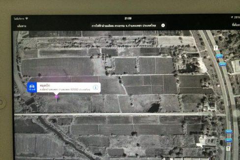 ขายที่ดิน 10 ไร่ เยื้องเส้นทางตัดใหม่สู่สายเลี่ยงเมืองกพ.ติดพหลโยธิน