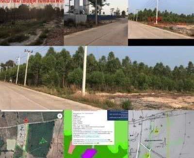 ขายที่ดิน เขตพื้นที่สีม่วง ปราจีนบุรี เนื้อที่ 6 ไร่