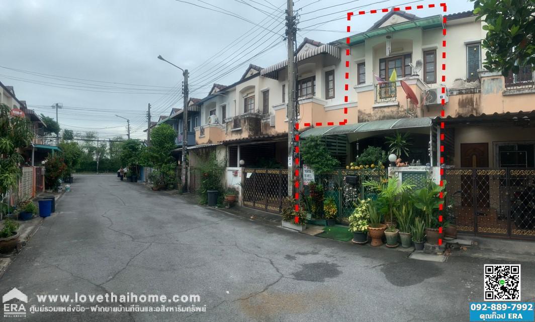 ขายบ้านทาวน์เฮ้าส์ หมู่บ้าน เค.ซี. คลัสเตอร์ รามอินทรา 7 ถนนหทัยราษฏร์ ซอยไทยรามัญ ใกล้ทางด่วนฉลองรัช พื้นที่ 16 ตรว.