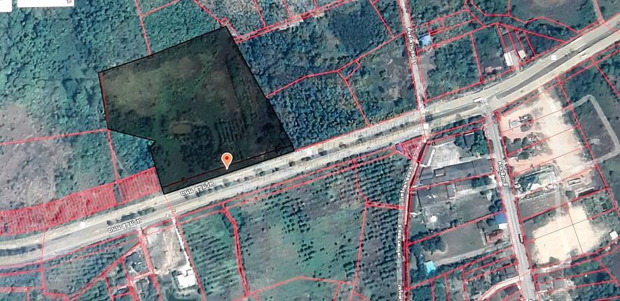 ขายที่ดินแปลงสวย 27-1-38.5 ไร่ กว้าง 200 เมตร ถนนสุขุมวิท ใกล้ทางลงท่าเรือบ้านเพ (ซอยศาลาสังกะสี ) ต.เพ อ.เมือง จ.ระอง