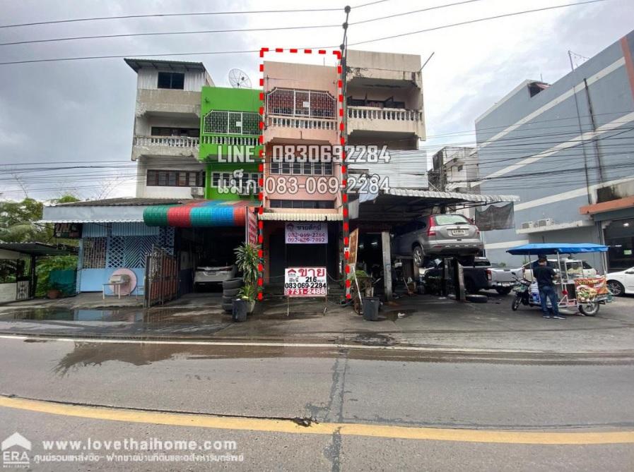 ขายตึกแถว ติดถนนเรวดี ต.ตลาดขวัญ จ.นนทบุรี ใกล้กับแนวรถไฟฟ้าสายสีม่วง